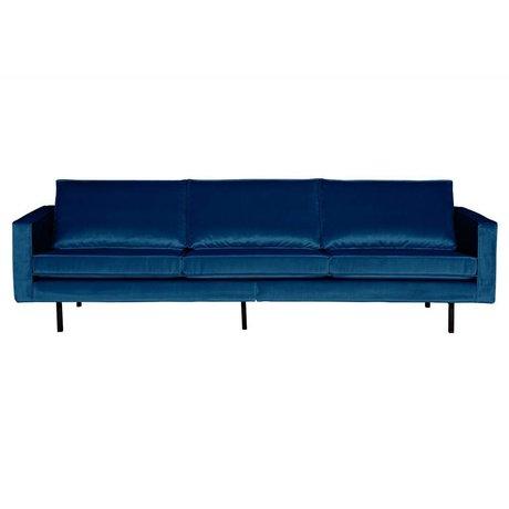 BePureHome Sofa Rodeo 3-sæders Natshade mørk blå sammet 85x277x86cm