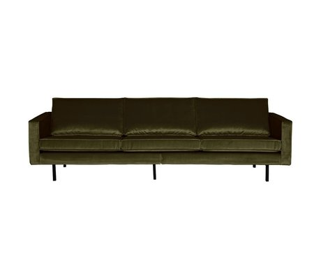 BePureHome Canapé Rodeo 3 places Green Hunter vert velours 85x277x86cm