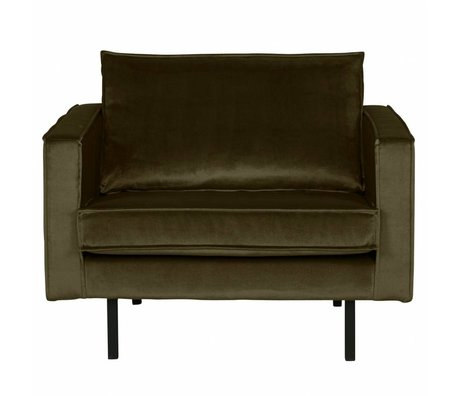 BePureHome Sessel Rodeo Green Hunter grün Samt 105x86x85cm