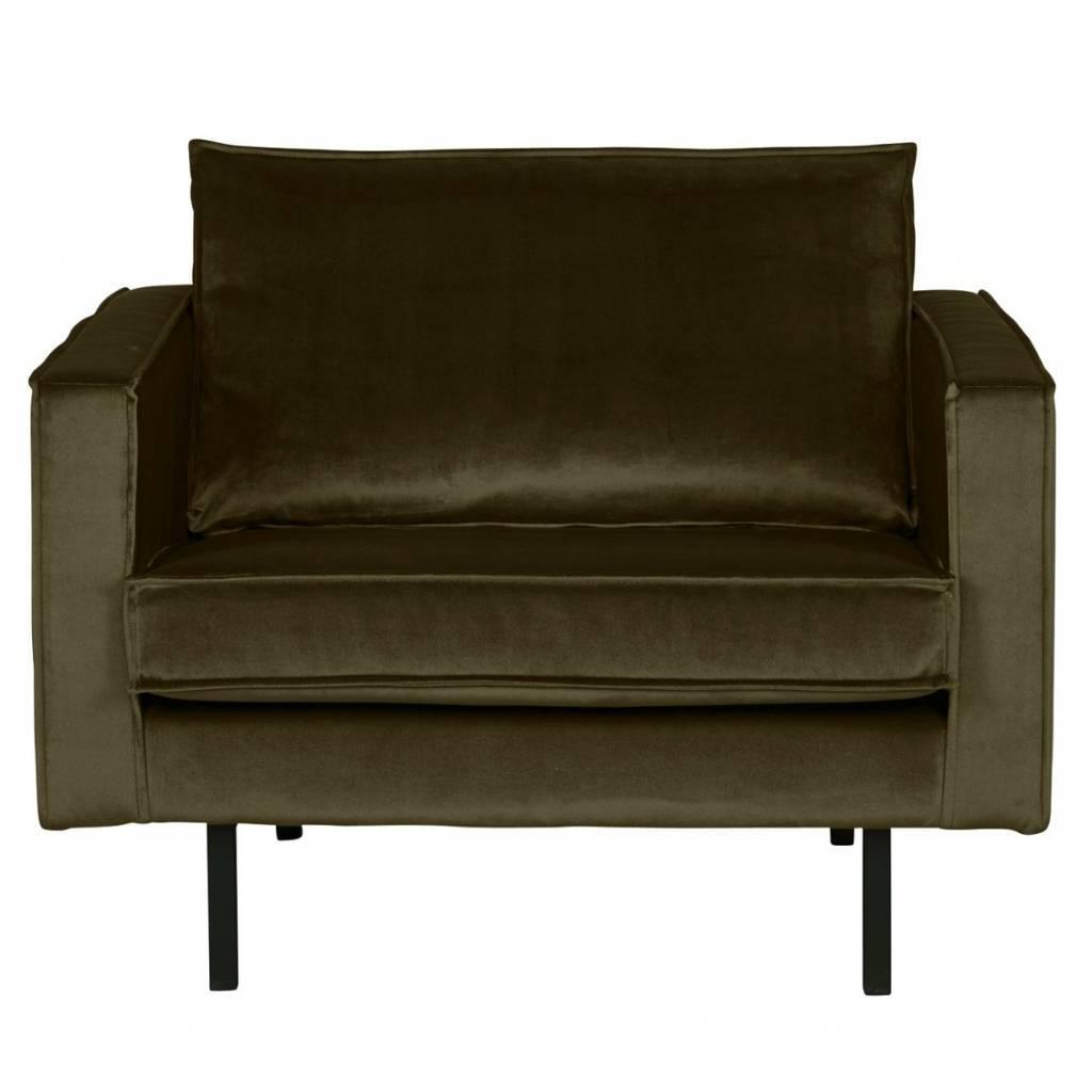 fauteuil rodeo vert hunter velours velours vert 105x86x85cm. Black Bedroom Furniture Sets. Home Design Ideas