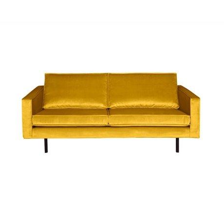BePureHome Sofa Rodeo 2,5-sæders oker-gul fløjl 190x86x85cm