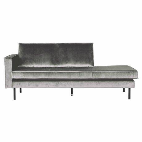 BePureHome Sofa Daybed venstre mellemgrå fløjl 203x86x85cm