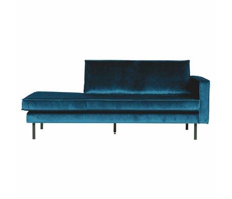 BePureHome Sofa Daybed højreblå fløjl 203x86x85cm