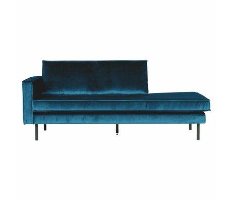 BePureHome Sofa Daybed venstre blå fløjl 203x86x85cm