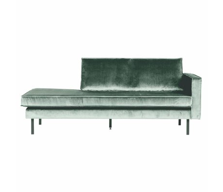BePureHome Banque Daybed droit velours velours vert menthe 203x86x85cm