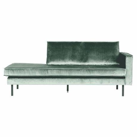 BePureHome Sofa Daybed rechts mintgrün Samt 203x86x85cm
