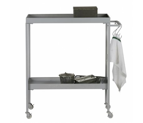 vtwonen Cart Stack-it Lav bager vogn grå metal 98x90x40cm