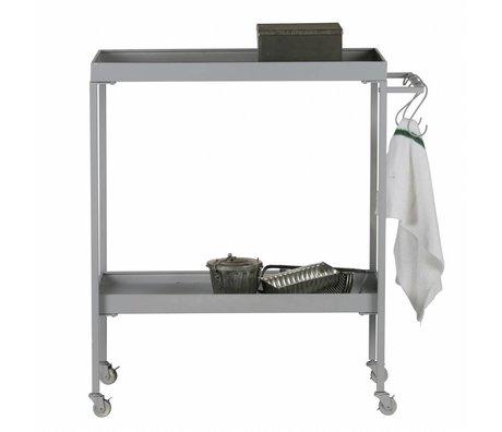vtwonen Cart Stack-it Low panier de boulanger gris métal 98x90x40cm