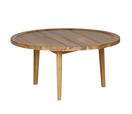 vtwonen Table d'appoint Sprokkeltafel bois naturel M 40x80x80cm