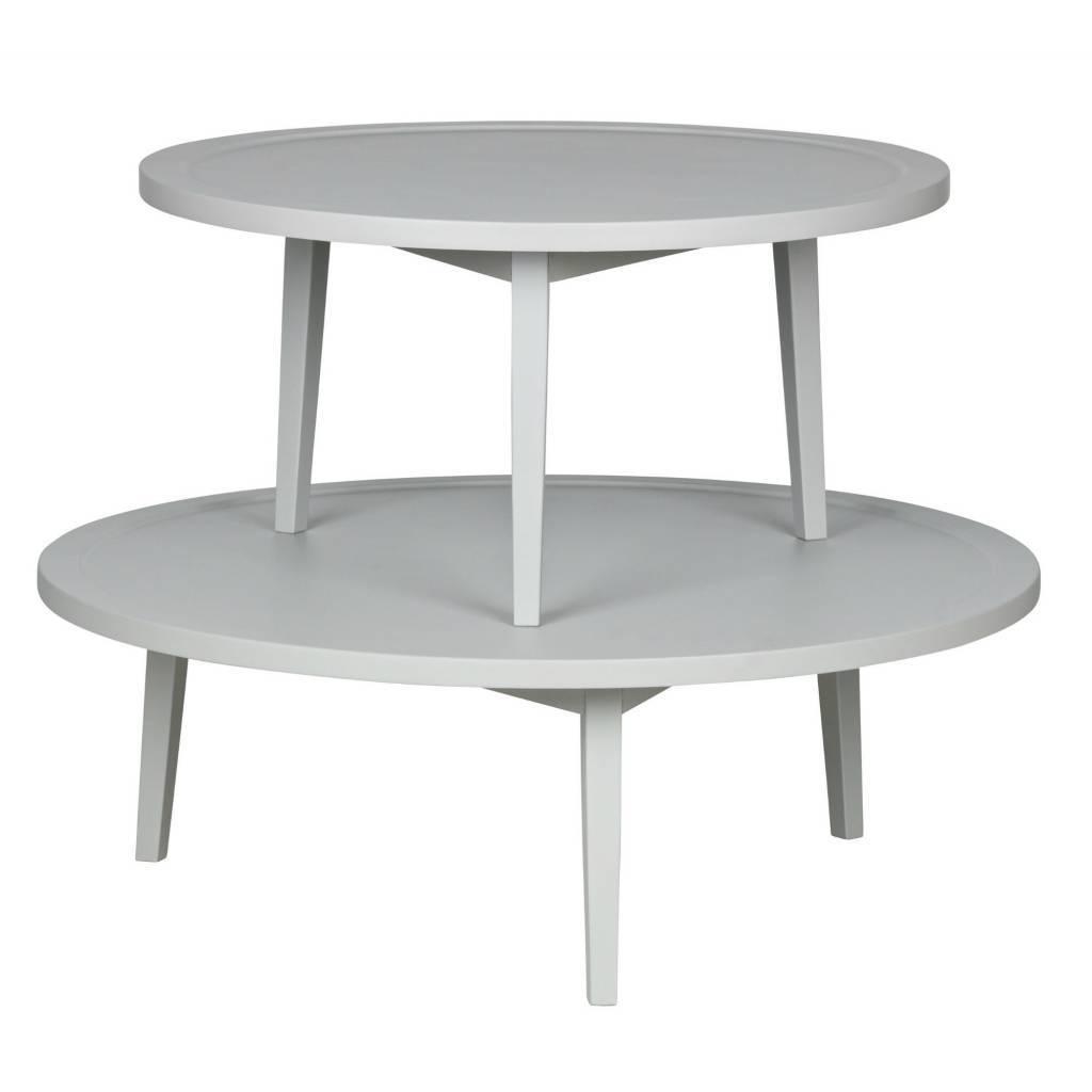 Table Dappoint Bois Gris Sprokkeltafel L 35x100x100cm Leflivingcom
