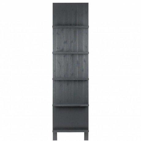 vtwonen Porte-revues noir bois 215x56x10cm