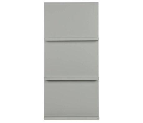 vtwonen Porte-revues suspendu bois gris 120x56x10cm
