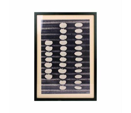 HK-living Art abstrait Cadre monochrome 52x36,5x2,5cm