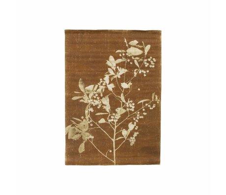 HK-living Schulwandbild Wandkarte blueberry twig mehrfarbig Leinen 70,5x100x1c