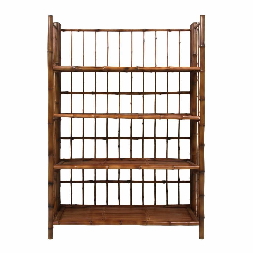 Einklappbares Regal Braun Bambus 80x25x105cm Lefliving De
