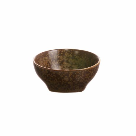 HK-living Skål Kyoto brunt porcelæn 7,8x7,8x3,5cm