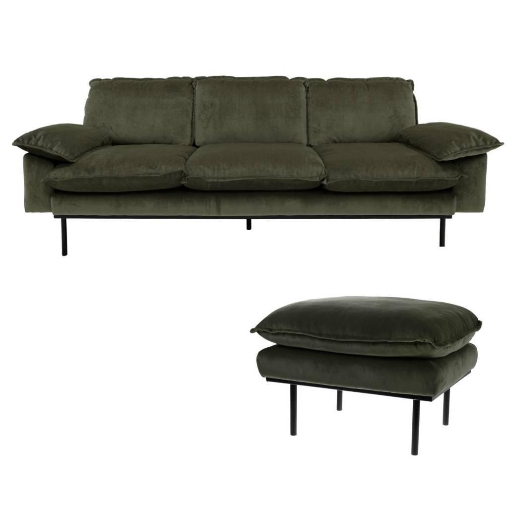 Genial Sofa Grün Foto Von Cooles 2-sitzer Von Hk Living! Das Hat