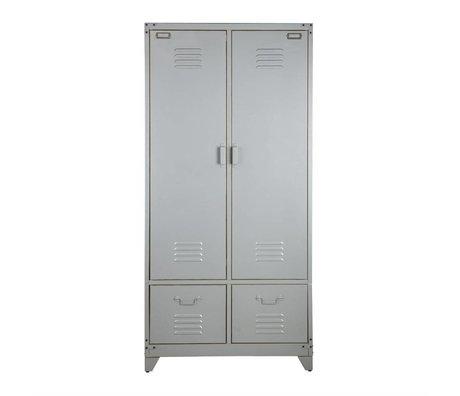vtwonen Locker métal argenté 190x90x50cm