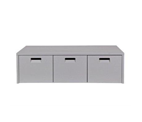 vtwonen Banc de rangement magasin lumière gris pin 120x50x36cm