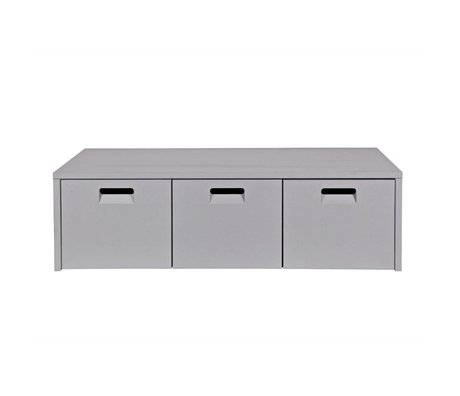vtwonen Opbevaringsbænk Opbevar lysgrå fyr 120x50x36cm