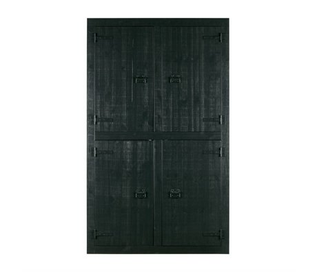 vtwonen Skab Bunk Black Pine 4-dørs 120x37x200cm