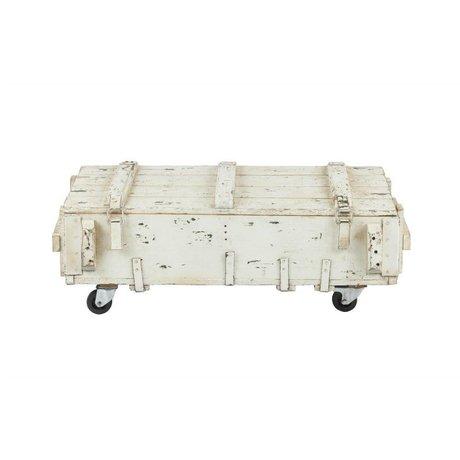 vtwonen Table de salon Armoire en bois blanc 104x50x38cm