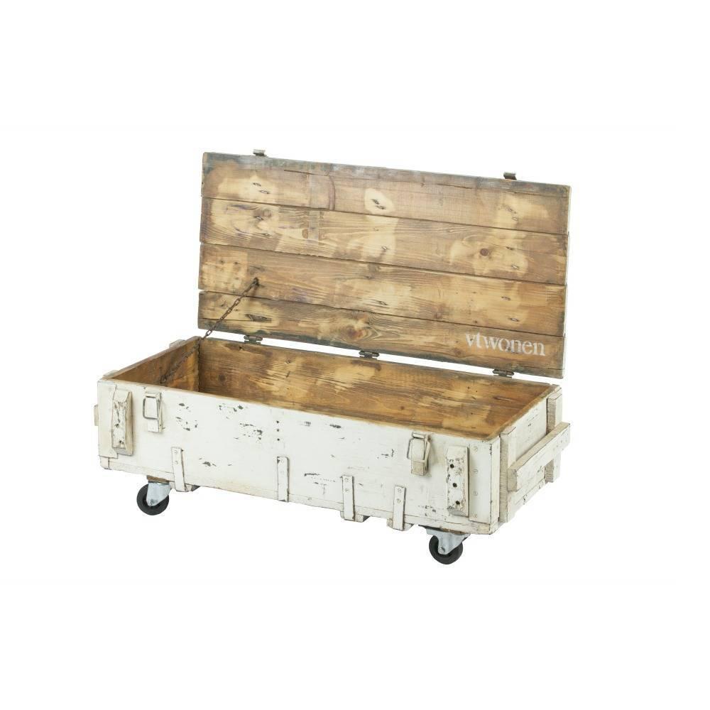 Salontafel Army wit hout 104x50x38cm - lefliving.de