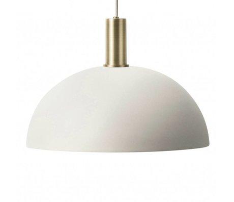 Ferm Living Hængelampe Dome Lavt lysegrå messingfarvet guldmetal