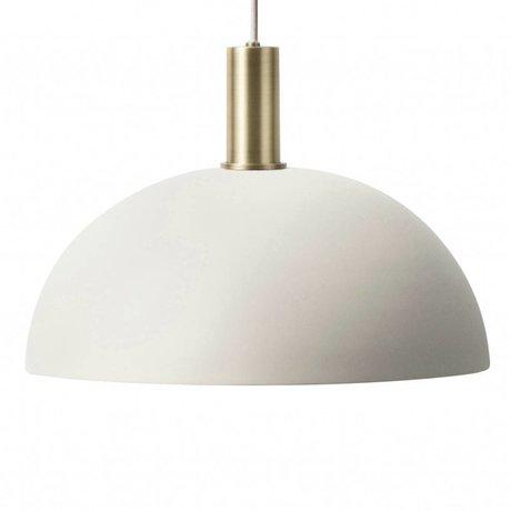 Ferm Living Lampe à suspension Dome Faible gris clair laiton couleur or métal