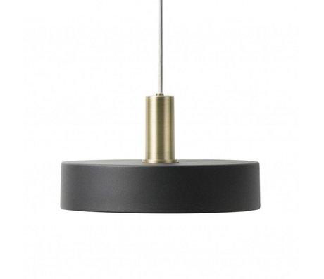 Ferm Living Lampe suspendue Record Low noir laiton couleur or métal