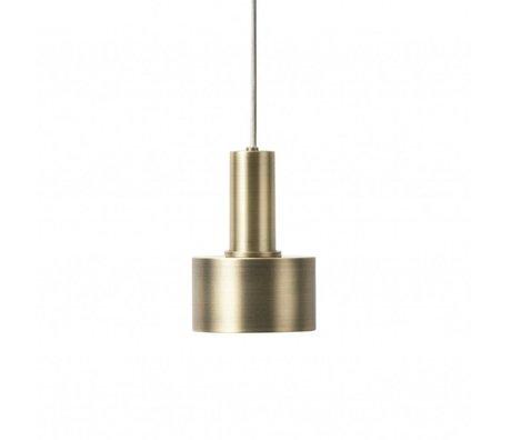 Ferm Living Hængelampe Disk Lav messing guldfarvet metal