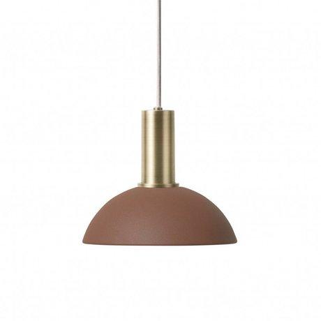 Ferm Living Hængelampe Hoop Lav rødbrun messing farvet guldmetal