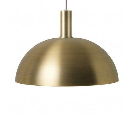 Ferm Living Hanging Lamp Dome Lavt guld metallisk farve metal