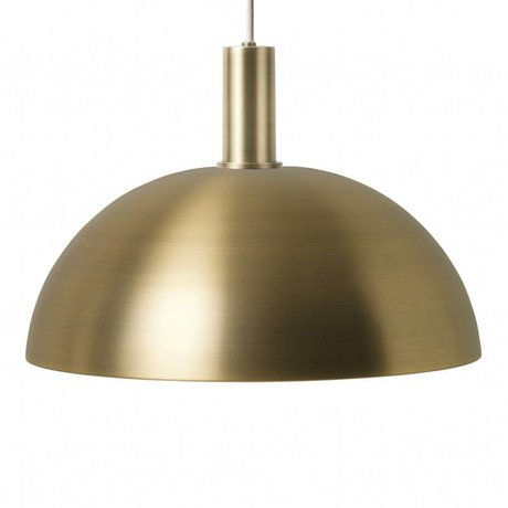 Ferm Living Hängelampe Dome Low goldfarben messingfarben Metall