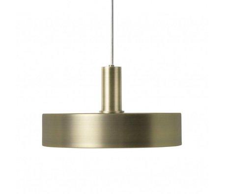 Ferm Living Lampe suspendue Record Faible laiton couleur or métal