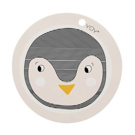 OYOY 39x0,15cm Placemat Penguin silicone rose