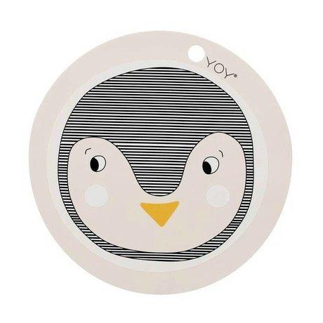 OYOY 39x0,15cm tovaglietta pinguino rosa in silicone