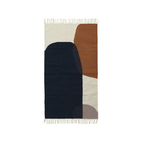 Ferm Living Tappeto Kilim Merge lana cotone 80x140cm