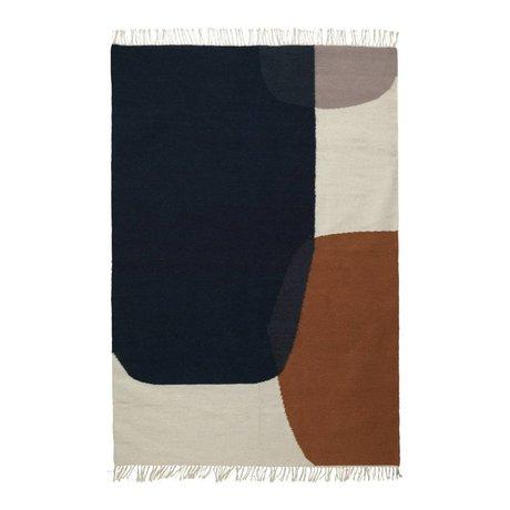 Ferm Living Carpet Merge Kelim cotton wool 140x200cm