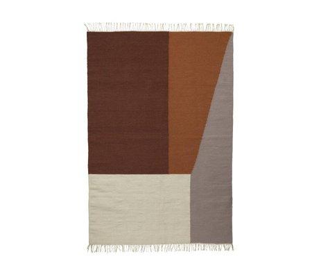 Ferm Living Tapis frontières laine de coton Kilim 140x200