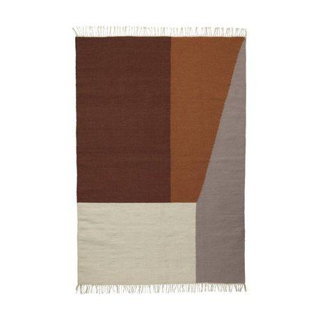 Ferm Living Teppich Borders Kelim Baumwolle Wolle 140x200cm