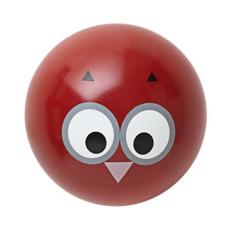 Ferm Living Wall hook 'Owl Hook' red wood Ø5cm