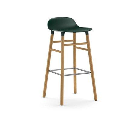Normann Copenhagen Barstool formular grøn brun plast eg 45x45x87cm
