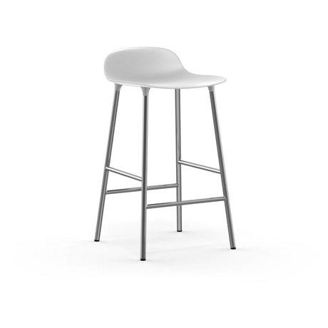 Normann Copenhagen Barstool formular hvid plast chrome 43x42,5x77cm