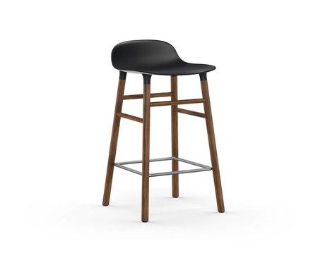 Normann Copenhagen sous forme de bois Tabouret plastique noir brun 43x42,5x77cm
