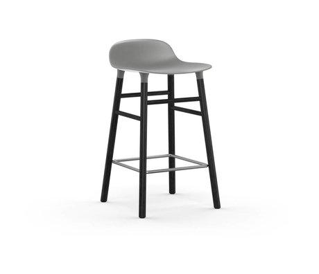 Normann Copenhagen Barstool gri siyah plastik ahşap 43x42,5x77cm oluşturmak