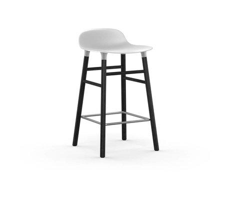 Normann Copenhagen forma sgabello bianco 43x42,5x77cm nero legno plastica