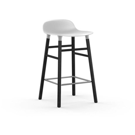Normann Copenhagen Barstool formular hvid sort 43x42,5x77cm plast tømmer