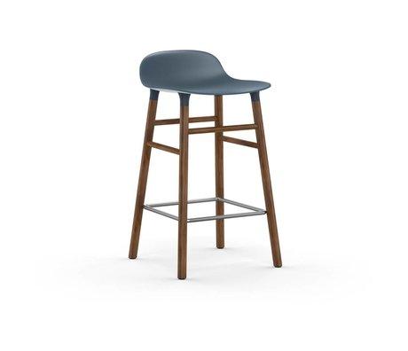 Normann Copenhagen forma Barstool azul marrón 43x42,5x77cm madera plástica