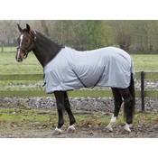 Harry's Horse Vliegendeken mesh met singels Grijs 145 cm